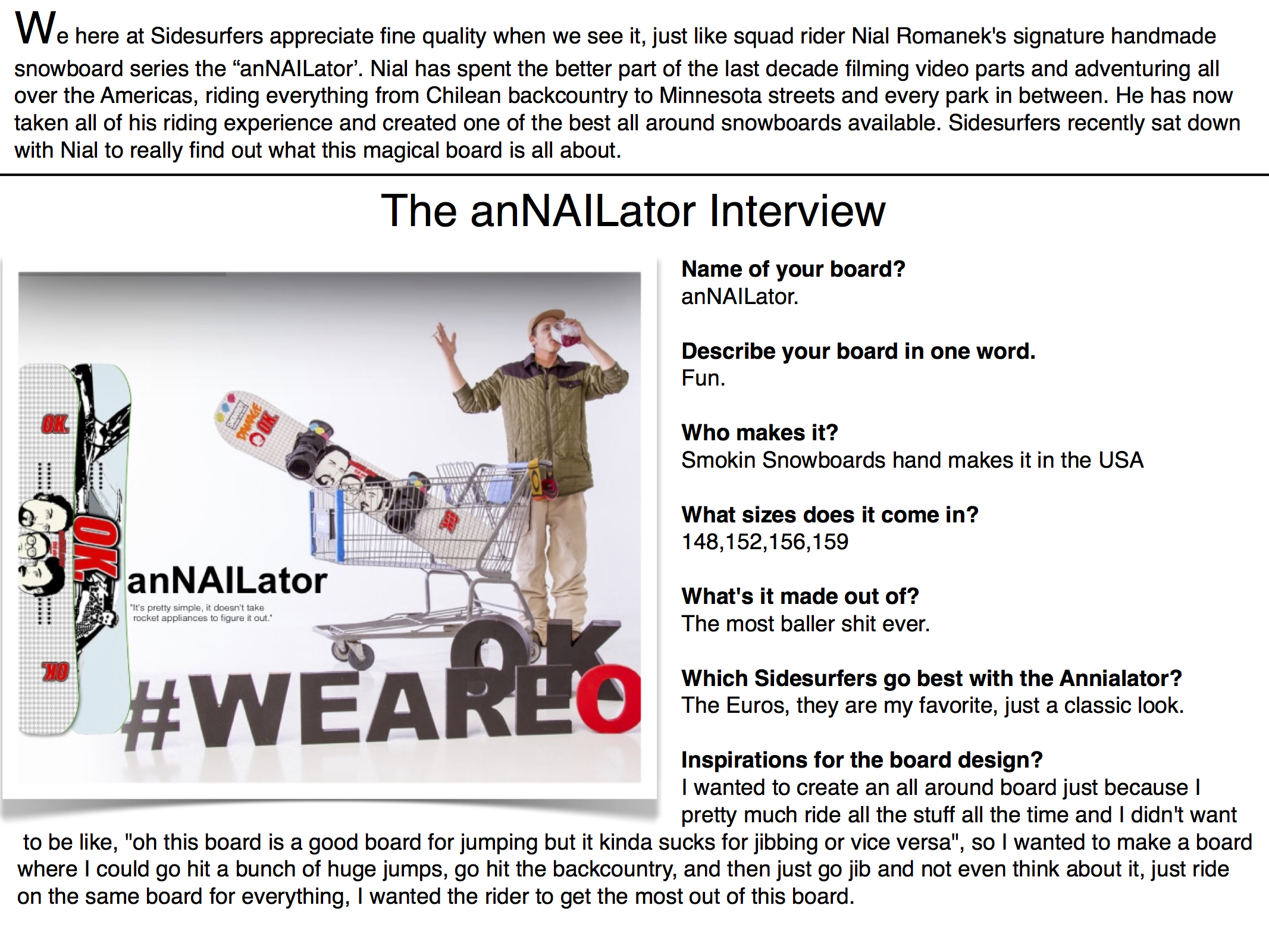 Annailator Interview