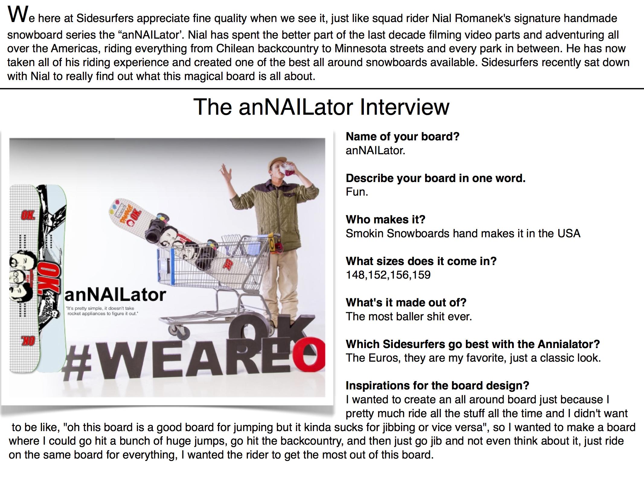 Annailator Interview